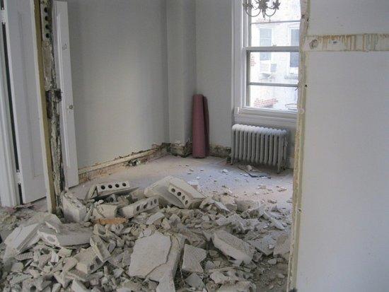 ścianka działowa wyburzanie