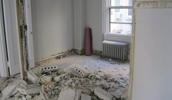 Wyburzanie ścianek działowych